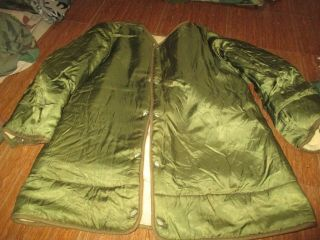 Vtg M51 Us Army M1951 Fish Tail Liner Parka Size Small,  Very Good