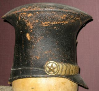 and Rare Bellcrown Shako,  1821 - 32,  Overall with Label 5