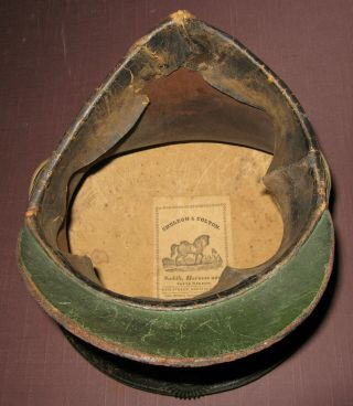 and Rare Bellcrown Shako,  1821 - 32,  Overall with Label 6