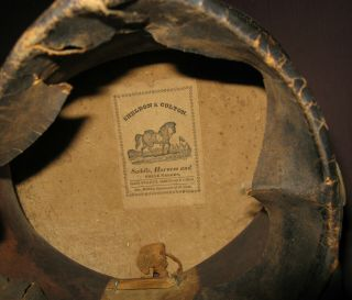 and Rare Bellcrown Shako,  1821 - 32,  Overall with Label 7