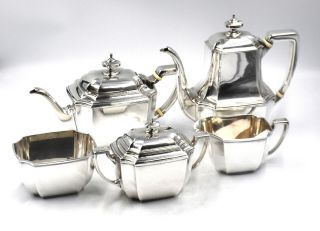 Tiffany & Co Art Deco Hampton Tea Coffee Service Set 5pc Sterling Silver Signed