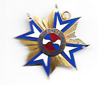 United States Mullus Dames Of The Loyal Legion 14k Gold Pin Broach Identified