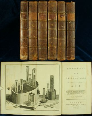 Priestley Experiments & Observations On Air 1775 - 86 Oxygen 6vol 1st Edition Nr