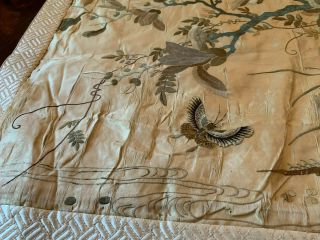 A Large Chinese Qing Dynasty Embroidered Panel. 10