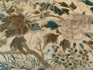A Large Chinese Qing Dynasty Embroidered Panel. 11