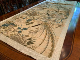 A Large Chinese Qing Dynasty Embroidered Panel.