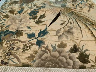 A Large Chinese Qing Dynasty Embroidered Panel. 2