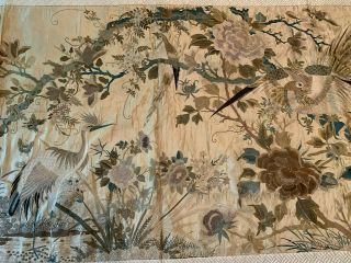 A Large Chinese Qing Dynasty Embroidered Panel. 4