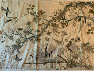 A Large Chinese Qing Dynasty Embroidered Panel. 5