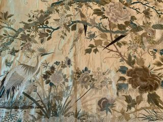 A Large Chinese Qing Dynasty Embroidered Panel. 6