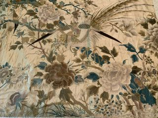 A Large Chinese Qing Dynasty Embroidered Panel. 7