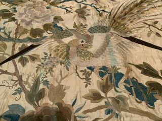 A Large Chinese Qing Dynasty Embroidered Panel. 8