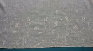 Antique 18th Century Tambour Embroidered Cotton Muslin Apron