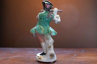 Meissen Porcelain Figure of Flute Player from Galant Orchestra 2