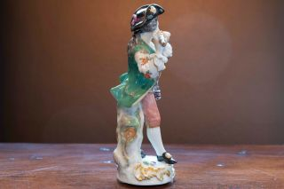 Meissen Porcelain Figure of Flute Player from Galant Orchestra 3