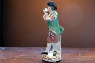 Meissen Porcelain Figure of Flute Player from Galant Orchestra 5