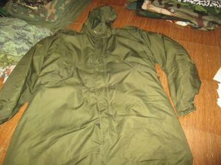 Vtg M51 Us Army M1951 Fish Tail Parka Poplin/liner Size Small,  Very Good