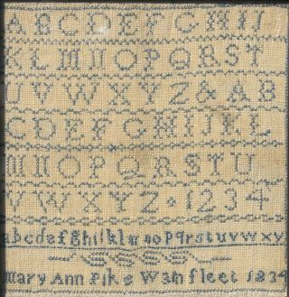 ANTIQUE NEEDLEWORK SAMPLER by MARY ANN PIKE WAINFLEET LINCOLNSHIRE 1834 3