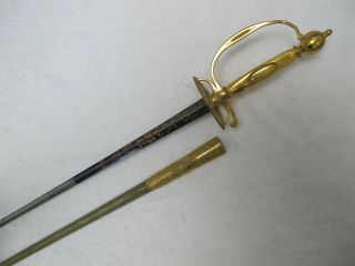 Very Fine French Smallsword Court Sword Ca.  1780 - 1800,  By Dassier Paris