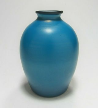 Lct Tiffany Studios Favrile Glass Mazarine Or Persian Blue Vase Ca.  1910 Rare