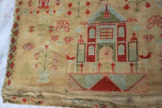 ANTIQUE NEEDLEWORK SAMPLER by MARY DICKINSON AGED17 1842. 3