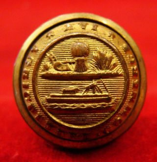 """Rare Early Tennessee Militia Button With """" Waterbury Button Co.  """" Bm Ca 1866"""