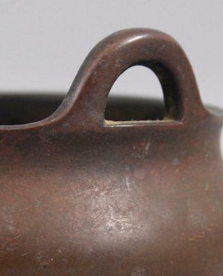 Ancient Antique 15thC Chinese,  Xuande Period,  Ming Dynasty Small Bronze Censor 6