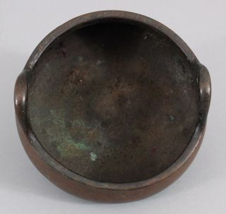 Ancient Antique 15thC Chinese,  Xuande Period,  Ming Dynasty Small Bronze Censor 8