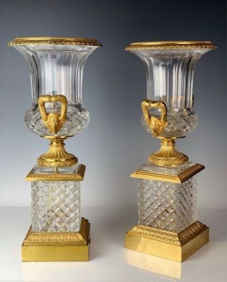 DORE BRONZE AND CUT CRYSTAL VASES 22