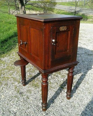 Antique Walnut Savery Dining Room Water Cooler Refrigerator Primitive 1868 Era