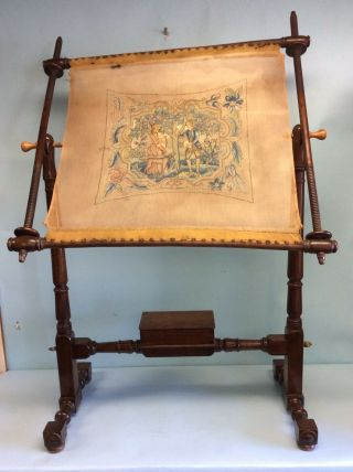 Victorian Needlepoint Pivoting Table Frame
