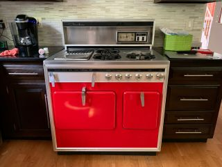 Vintage Chambers 60s Gas Stove/oven,  Owner,  Red