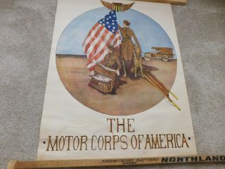 Wwi Motor Corps Of America Poster
