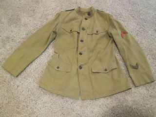 Wwi Us Army Combat/battle Tunic/shirt Insignia And Patches Estate Find