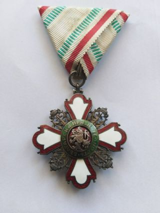 Bulgaria Kingdom Red Cross Medal Order Of The Incentive To Humanity Ww1