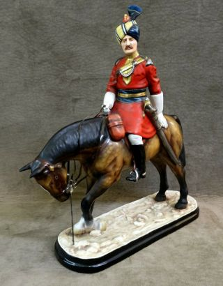 """Michael Sutty Soldier Figure On Horse """" 18th Bengal Lancers """" Model 39,  Col.  India"""