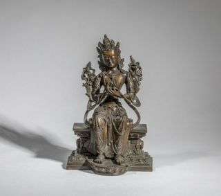 West Nepal/back Tibetan Antique Bronze Buddha