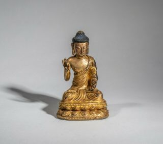 Chinese Antique Gilt Buddha,  Ching Dynasty