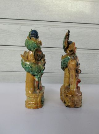 Antique Chinese Multicolored Ceramic Pottery Incense Holder Dragon & Phoenix `nr 5