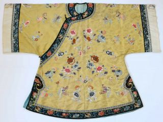 Chinese Damask Silk & Needle - Worked Informal Women