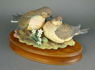Fine Vtg German Bisque Porcelain Hutschenreuther G.  Granget Dove Bird Sculpture