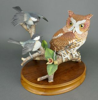 Fine Vtg German Bisque Porcelain Hutschenreuther G.  Granget Owl Bird Sculpture
