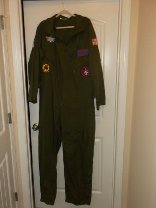 Flight Suit 4x In Great Shape,  (great Costume For Top Gun Movie)