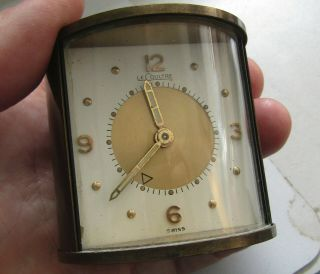 Brass Le Coultre Cylindrical Swiss Travel Alarm Clock,  Not,  4 Repair?