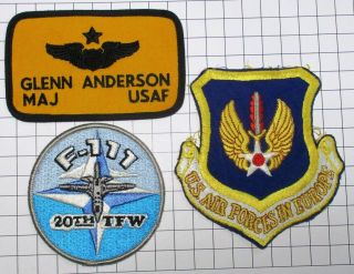 Usaf Military Patch Air Force Usafe 20th Tfw 79th Tfs Named Tag Badge (3) Set2