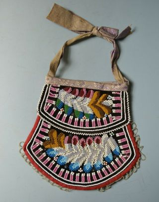 Good Old Native American Iroquois Beaded Bag