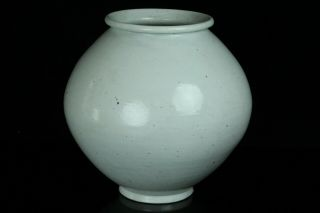 May215f Korean Late Joseon Antique White Porcelain Buncheng Jar Pot Vessel Vase