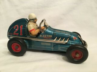 Yonezawa Electro 21 Blue Battery Operated Midget Racer 1950