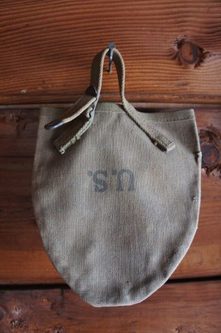 1943 B.  B.  S.  Co.  Wwii Ww2 Army Shovel Cover Canvas With Straps