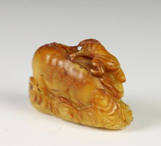Small Chinese Jade Carving of Figure on Elephant 4